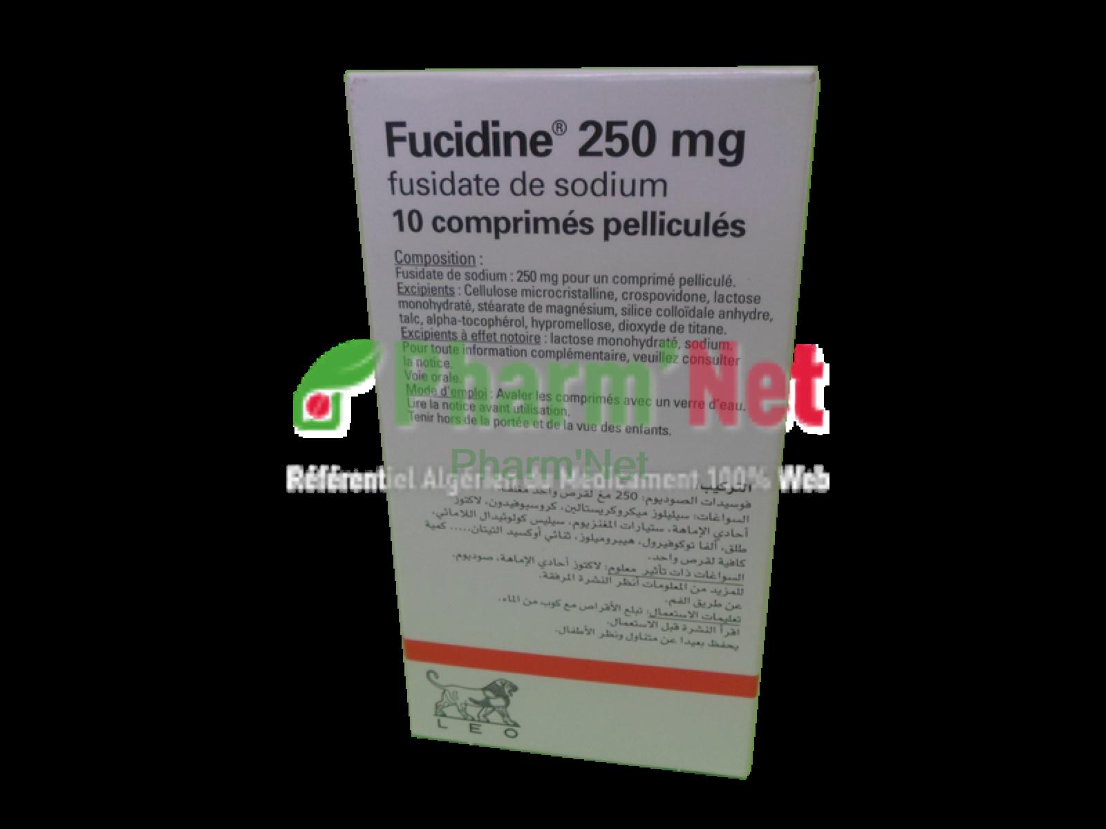 Fucidine 250mg Comp Pelli B 10 Pharmnet Encyclopedie Des Medicaments En Algerie Propriete Sarl Esahti